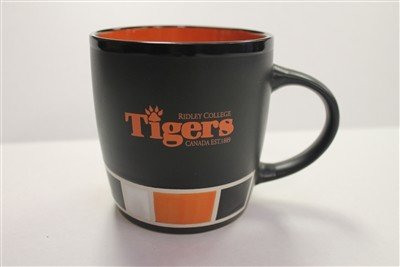 Mug- Black & Orange with Colour Blocks