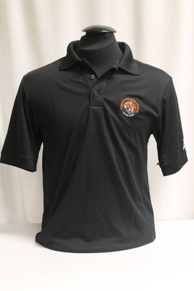 Black Polo with Athletic Logo - Sm