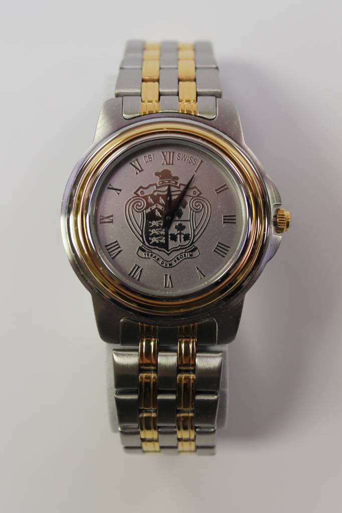 Gents 2 Tone Watch w/Brac - (37B-Silver)