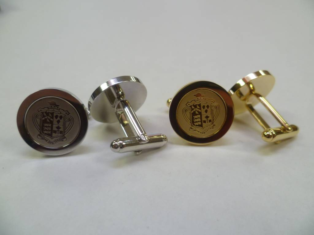 Cuff Links - Crested