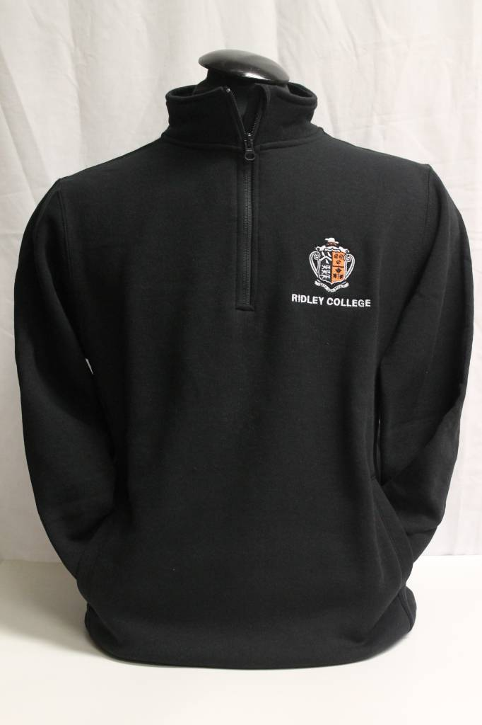 1/4 Zip Sweatshirt With Crest
