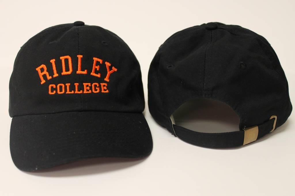 Black Ball Cap w/orange embroidered Ridley College