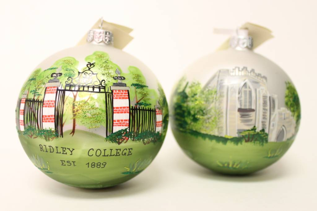 ORNAMENT-HAND PAINTED BALL CHRISTMAS