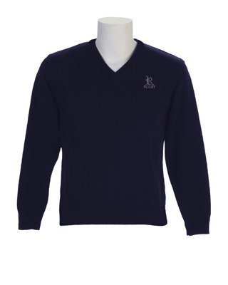 Upper School Navy Pullover Sweater youth large