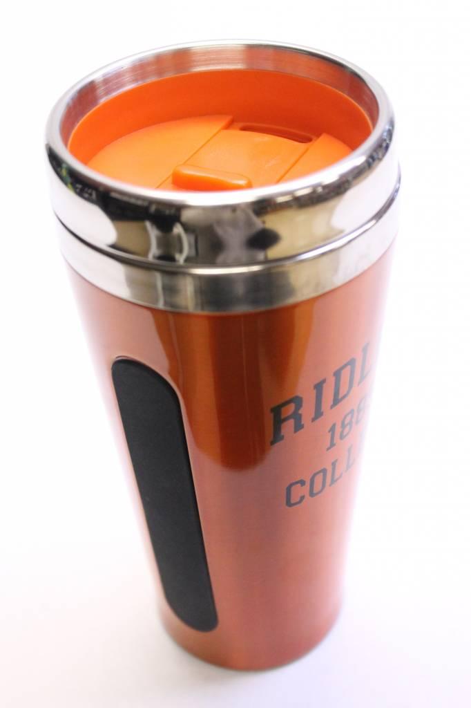 Orange Dual Grip Travel Mug