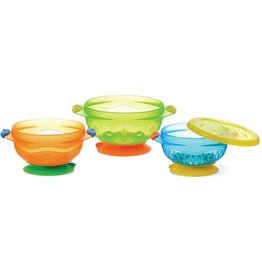 Munchkins Munchkins Stay-Put Suction Bowls -3pk