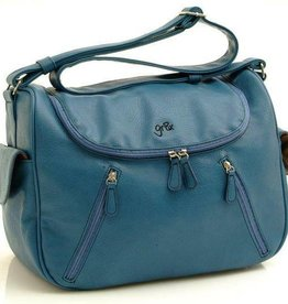 GR8X Gr8x Calypso Zip Around Satchel Turquoise with Wrought Iron lining