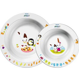 Avent Avent 708 Toddler Feeding 6M+ Bowl Set (Small & Large)