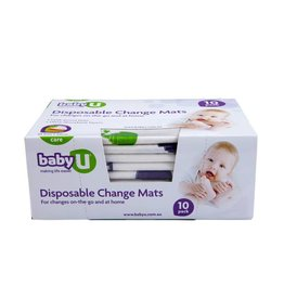 Baby U Baby U Disposable Change Mats 10pk
