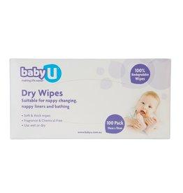 Baby U Baby U Dry Wipes 100pk