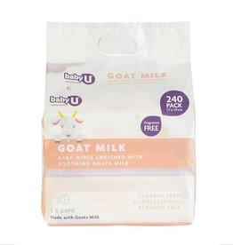 Baby U Baby U Goat Milk Wipes 240pk