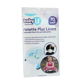 Baby U Baby U Potette Plus Disposable Liners 10pk