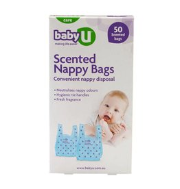 Baby U Baby U Scented Nappy Bags 50pk
