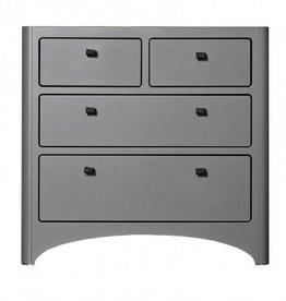 Leander Leander 4 Drawer Dresser Gray