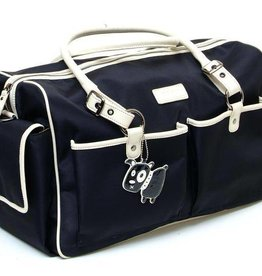 GR8X Gr8x Escapades' Large Holdall canvass laminate Charcoal with Moonstone trim and gr8x signature lining