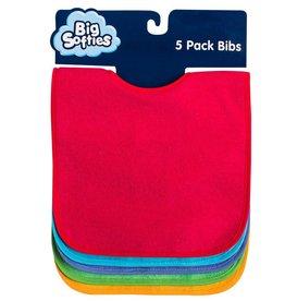 Big Softies Big Softies 5 Pack Bright Bibs Bright