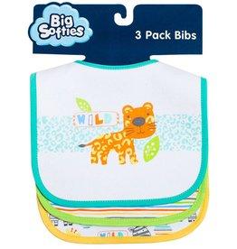 Big Softies Big Softies Bib 3 Pack With Applique