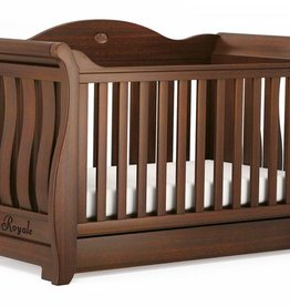 Boori Boori Sleigh Royale Cot Bed Walnut
