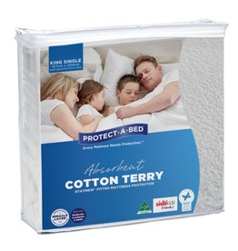 Protect-A-Bed Protect-A-Bed Mattress Protector Cotton Terry King Single (107cmx204cm)