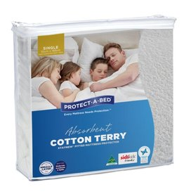 Protect-A-Bed Protect-A-Bed Mattress Protector Cotton Terry Single (92cmx188cm)