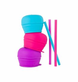 Boon Boon Snug Straw 3pk Lids - Girl
