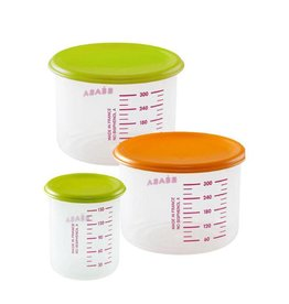Beaba Beaba Set of 3 PP Portions Food Jar (1 baby / 1 maxi / 1 maxi+)