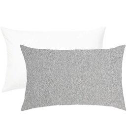 Living Textiles Living Textiles 2-pack Jersey Cot Pillowcase White/Grey Stripe/Melange