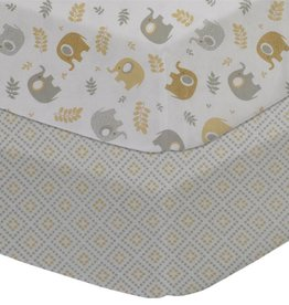Living Textiles Living Textiles 2pk Cot Fitted Sheet - Jersey