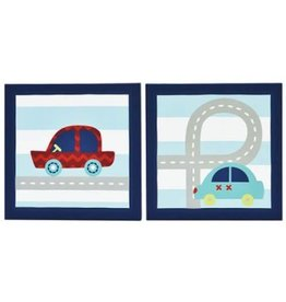 Little Haven Little Haven Zoom Along Canvas Wall Art (2 Pk)