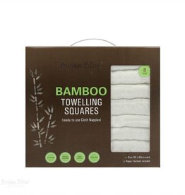 Bubba Blue Bubba Blue Bamboo White Nappies - 8 pack