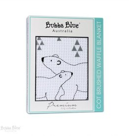 Bubba Blue Bubba Blue Polar Bear Cot Brushed Waffle Blanket