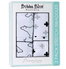 Bubba Blue Bubba Blue Polar Bear Twin-pack Stretch Jersey Wrap