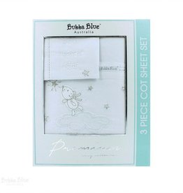 Bubba Blue Bubba Blue Wish Upon A Star Emb Cot Sheet Set
