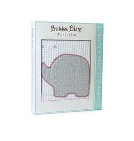 Bubba Blue Bubba Blue Petit Elephant Cot Waffle Blanket