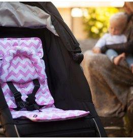 Outlook Outlook Baby Head Snug w Bonus mini liner Pink Chevron