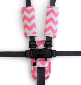 Outlook Outlook Harness Cover Strap Set Pink Chevron