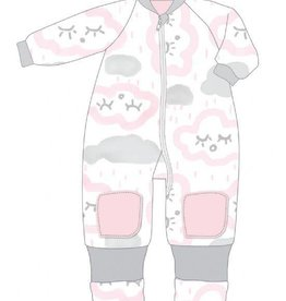 Baby Studio Baby Studio Winter Warmies Cotton with Arms - 3.0 Tog Clouds - Pink