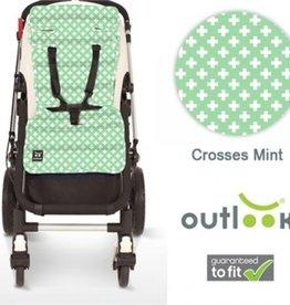 Outlook Outlook Cotton Pram Liner Mint Crosses