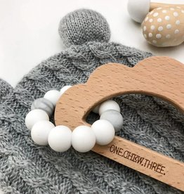 OneChewThree OneChewThree Cloud Silicone and Beech Wood Teether