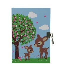 Bobble Art Bobble Art Lockable Diary Woodland