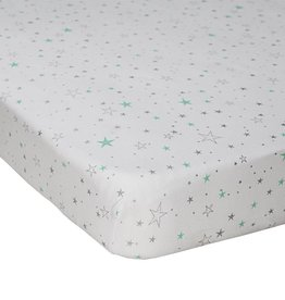 Lolli Living Lolli Living My city Fitted sheet - Jersey/Shining Stars