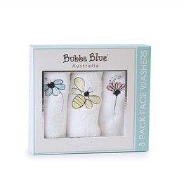 Bubba Blue Bubba Blue Pack of 3 Face Washers