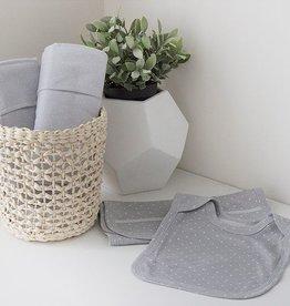 Bubba Blue Bubba Blue Grey Bamboo Bib & Burp Cloth Set