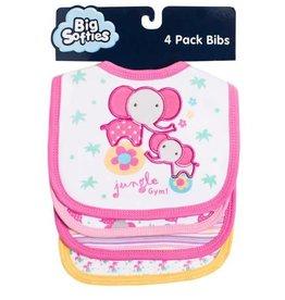 Big Softies Big Softie Bibs 4 pack with Applique Ellie