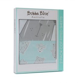 Bubba Blue Bubba Blue Beary Happy 2 Cot Fitted Sheet