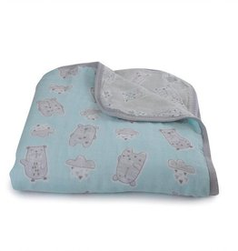 Bubba Blue Bubba Blue Beary Happy Muslin Blanket