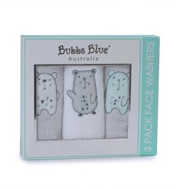 Bubba Blue Bubba Blue Beary Happy 3 Pc Face Washer