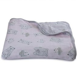 Bubba Blue Bubba Blue Beary Sweet Muslin Blanket