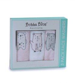 Bubba Blue Bubba Blue Beary Sweet 3Pc Face Washers
