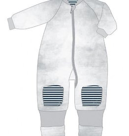 Baby Studio Baby Studio Winter Warmies Cotton with arms - 3.0 Tog 6-12M Distressed Stripes